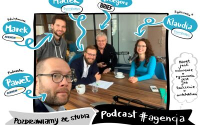Maciej Budkowski and Klaudia Tolman in the #agencja podcast